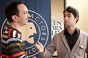 Branches  movie actors Tom Bartos (as the Last Man) and Sam Kirk (James) at Screen Actors Guild (SAG) Showcase event, February 2011