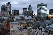 Vista de la ciudad de Londres conocida como la City. Londres, 11-11-2005. (ivan gonzalez)