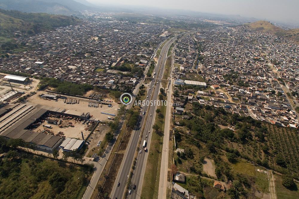 Vista aerea do bairro de Bangu na Zona Oeste do Rio de Janeiro / Aerial view of Bangu district, Western of Rio de Janeiro,  Brazil