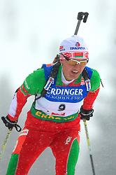 Liudmila Kalinchik (BLR) at Women 15 km Individual at E.ON Ruhrgas IBU World Cup Biathlon in Hochfilzen (replacement Pokljuka), on December 18, 2008, in Hochfilzen, Austria. (Photo by Vid Ponikvar / Sportida)