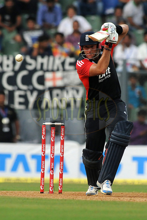 Tim Bresnan of England bats during the 4th One Day International ( ODI ) match between India and England held at the Wankhede Stadium, Mumbai on the 23rd October 2011..Photo by Pal Pillai/BCCI/SPORTZPICS