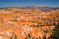 Bryce Canyon National Park, Rock formations, hoodoos and far side of ampitheater from Bryce Point, sunrise, erosion, arid, Utah, UT, Southwest America, American Southwest, US, United States, Image ut352-18149, Photo copyright: Lee Foster, www.fostertravel.com, lee@fostertravel.com, 510-549-2202