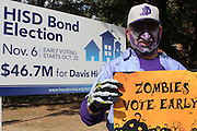 Vote Early Zombie at Davis High School