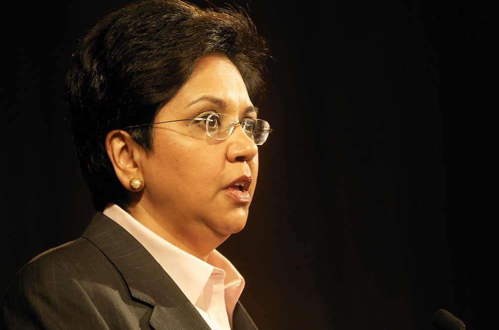 Indra Nooyi Chairman & CEO of PepsiCo addresses the members of the Economic Club of Washington at that Ritz Carlton DC