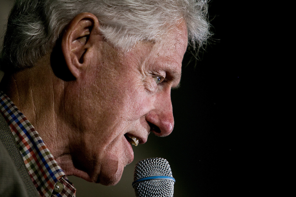 CHULA VISTA, CA - MAY 21, 2016: Former President Bill Clinton campaigns on behalf of his wife, presidential candidate Hillary Clinton, at Bonita Vista High School in Chula Vista, California. CREDIT: Sam Hodgson for The New York Times.