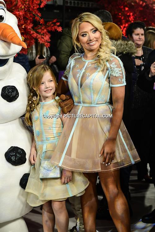 Saffron Barker attend European Premiere of Frozen 2 on 17 November 2019, BFI Southbank, London, UK.