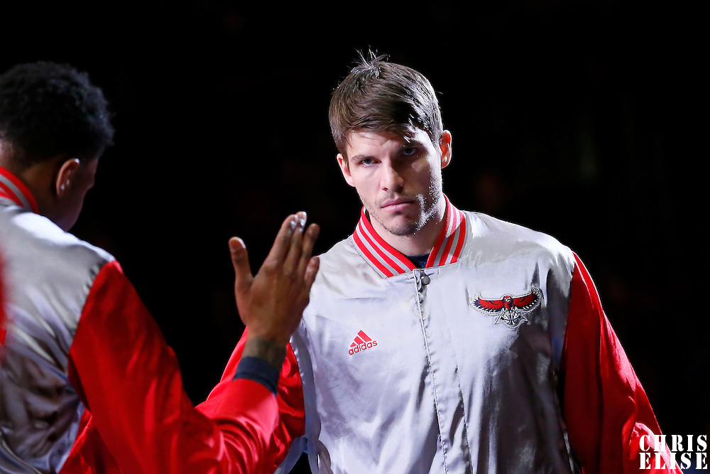 05 January 2014: Atlanta Hawks guard Kyle Korver (26) is seen during the players introduction prior to the Atlanta Hawks 107-98 victory over the Los Angeles Clippers, at the Staples Center, Los Angeles, California, USA.