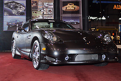 06 February 2005:    2005 PANOZ ESPERANTE GTLM CONVERTIBLE <br /> The Panoz Esperante is a high-performance sports car. Its company is based in Georgia and designed the Esperante to provide style and racecar performance.<br /> The Esperante is a two passenger rear-wheel drive sports car. It has an all aluminum chassis and aluminum body panels. It is available in coupe or convertible and comes in three trims: Base, GTLM, and GT. The Base and GT models are powered by a 305 hp 4.6-liter V-8 mated to either a five-speed manual transmission or a four-speed automatic. The more powerful GTLM has a supercharged 420 hp 4.6-liter V-8 that is controlled by a six-speed manual transmission.<br /> <br /> First staged in 1901, the Chicago Auto Show is the largest auto show in North America and has been held more times than any other auto exposition on the continent.  It has been  presented by the Chicago Automobile Trade Association (CATA) since 1935.  It is held at McCormick Place, Chicago Illinois