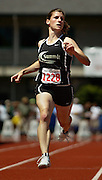 05/23/2009 - Summit's Kellie Schueler (1228) cruises to an easy win in the 5A Girl's 100 Meter Dash. The 2009 OSAA/U.S. Bank/Les Schwab Tires 6A-5A-4A Track and Field State Championships were run at Hayward Field in Eugene, Oregon.....KEYWORDS:  City, Portland, sports, Oregon, high school, OSAA, boys, girls, PIL, run, University, team