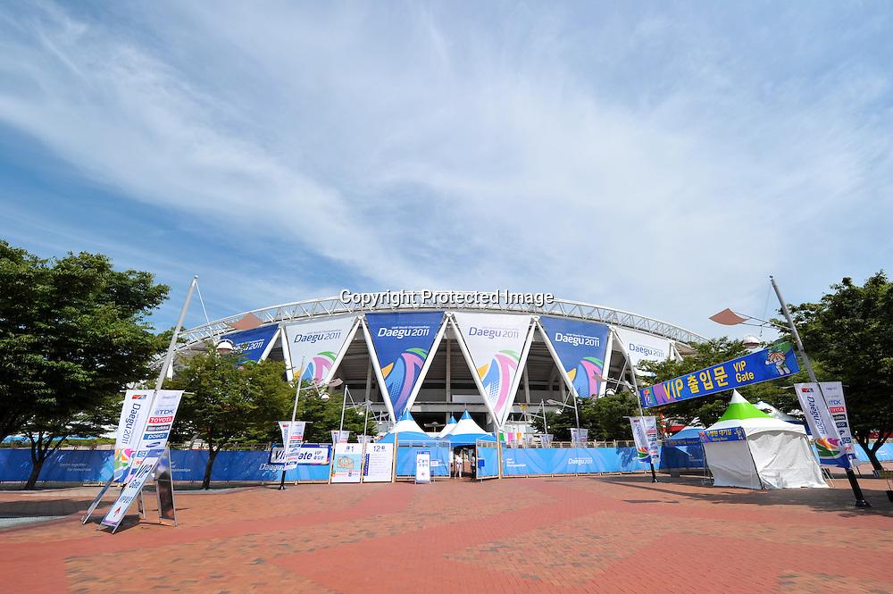 General view of stadium,AUGUST 29, 2011 - Athletics :The 13th IAAF World Championships in Athletics - Daegu 2011 at the Daegu Stadium, Daegu, Korea. (Photo by Jun Tsukida/AFLO SPORT) [0003]
