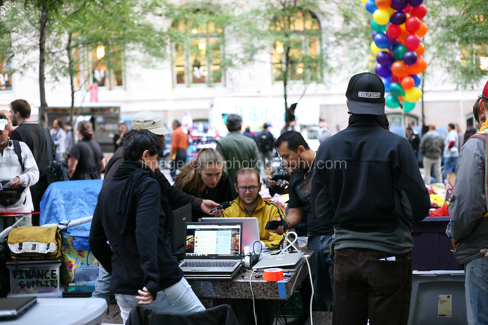 Occupy Wall Street protesters at Zuccotti Park in the financial district New York