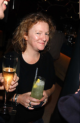 Artist RACHEL WHITEREAD at a dinner hosted by Arnaud Bamber MD of Cartier, Amanda Sharp and Matthew Slotover Directors of the Frieze Art Fair to celebrate artists featured in the 2005 Frieze Art Fair Curatorial Programme at Nobu-Berkeley, 15th Berkeley Street, London on 21st October 2005.<br />