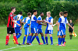 Bristol Rovers' U18s celebrate scoring   - Photo mandatory by-line: Dougie Allward/JMP - Tel: Mobile: 07966 386802 17/08/2013 - SPORT - FOOTBALL - Bristol Rovers Training Ground - Friends Life Sports Ground - Bristol - Academy - Under 18s - Youth - Bristol Rovers U18s V Bournemouth U18s