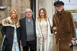 © London News Pictures. 05/03/2016. London, UK. SUZANNE WYMAN, BILL WYMAN JEANNE MARINE and  BOB GELDOFF attend a ceremony to mark the wedding of Rupert Murdoch and Jerry Hall held at St Brides Church, London on February 05, 2016. Former Rolling Stone Bill Wyman has been diagnosed with prostate cancer at the aged of 79. Photo credit: Ben Cawthra