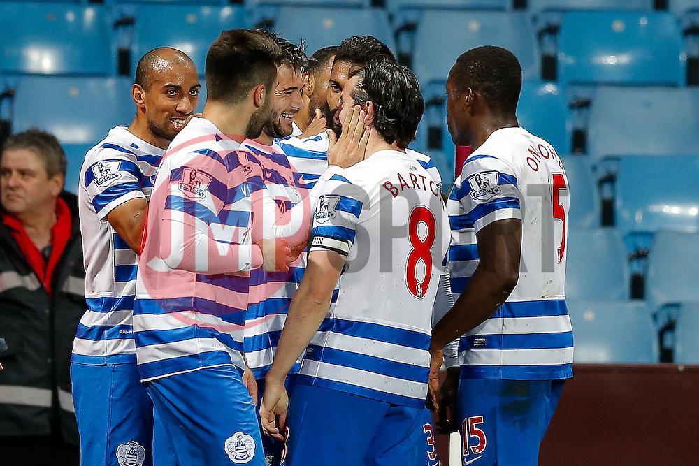 Charlie Austin of QPR celebrates scoring a goal to make it 2-3 - Photo mandatory by-line: Rogan Thomson/JMP - 07966 386802 - 07/04/2015 - SPORT - FOOTBALL - Birmingham, England - Villa Park - Aston Villa v Queens Park Rangers - Barclays Premier League.