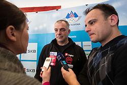 Matjaz Kopitar at press conference of Olympic committee and Hokejska zveza Slovenije prior to the Qualification for the Olympic games Sochi 2014, on February 1, 2013 in Ljubljana, Slovenia. (Photo By Matic Klansek Velej / Sportida.com)