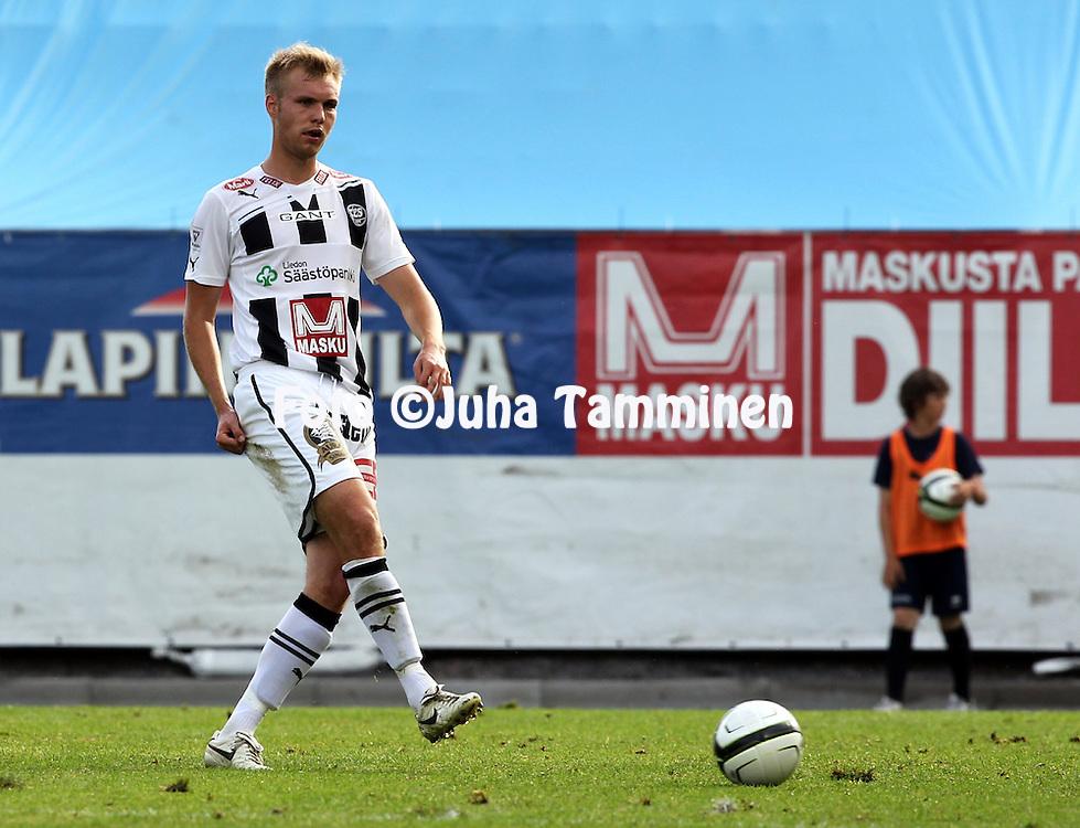 9.7.2012, Veritas stadion (Kupittaa), Turku..Veikkausliiga 2012..FC TPS Turku - FC Honka..Jani Tanska - TPS.