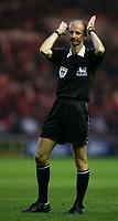 Fotball<br /> England 2004/2005<br /> Foto: SBI/Digitalsport<br /> NORWAY ONLY<br /> <br /> Middlesbrough v Blackburn Rovers, Barclays Premiership, Riverside Stadium, Middlesbrough 05/02/2005.<br /> <br /> Referee Mike Riley