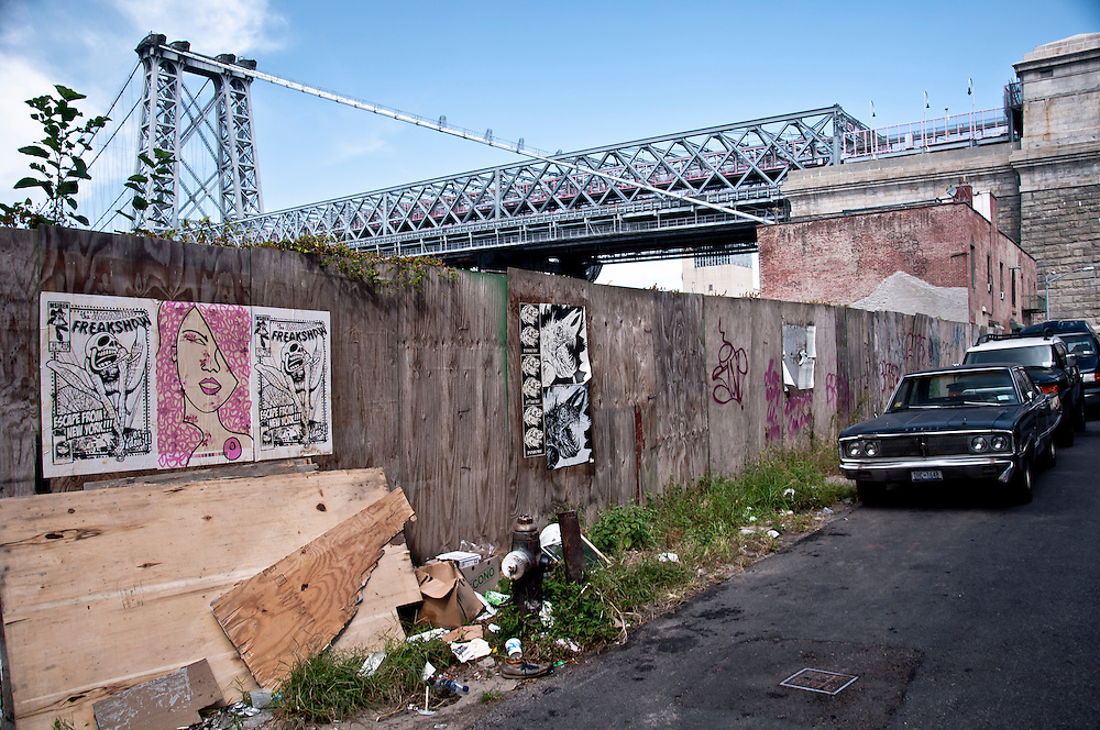 Construction site's wall in Williamsburg, Brooklyn, New York, 2009.