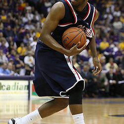 14 February 2009: Zach Graham (32) of Ole Miss reacts to a call during a 73-66 win by the LSU Tigers against SEC rival the Ole Miss Rebels at the Pete Maravich Assembly Center in Baton Rouge, LA.