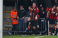Football - 2019 / 2020 Premier League - AFC Bournemouth vs. Brighton & Hove Albion<br /> <br /> Bournemouth's Callum Wilson celebrates scoring the cherries third goal, his second with Bournemouth's Harry Wilson at The Amex Stadium Brighton <br /> <br /> COLORSPORT/SHAUN BOGGUST