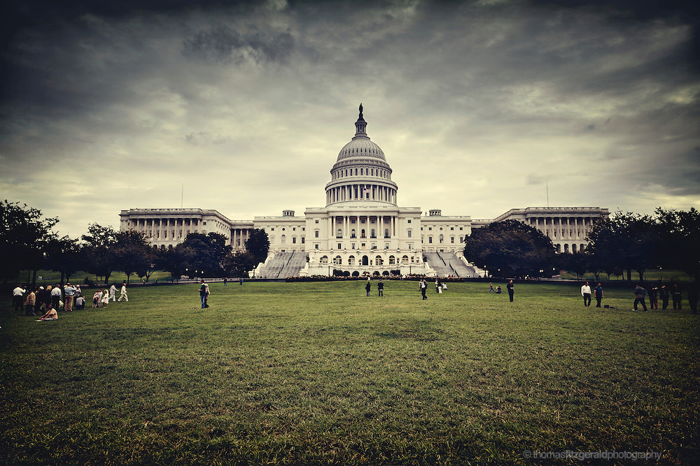Storm Clouds build over the US capitol building, Washington DC