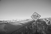 Open road in the high desert of Oregon with no support services. © Michael Durham.