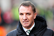 Celtic manager Brendan Rodgers during the Ladbrokes Scottish Premiership match between Heart of Midlothian and Celtic at Tynecastle Stadium, Gorgie, Scotland on 17 December 2017. Photo by Craig Doyle.