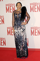 Amal Fashanu attends the UK Premiere of 'The Monuments Men' at Odeon Leicester Square , United Kingdom. Tuesday, 11th February 2014. Picture by Chris Joseph / i-Images