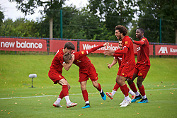 KIRKBY, ENGLAND - Saturday, August 31, 2019: Liverpool's xxxx during the Under-18 FA Premier League match between Liverpool FC and Manchester United at the Liverpool Academy. (Pic by David Rawcliffe/Propaganda)