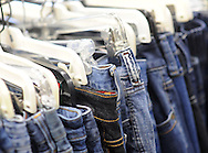 DOYLESTOWN, PA - AUGUST 23:  Jeans on display for sale at the grand opening of In Full Swing, A Woman's Place's newly designed and relocated thrift shop August 23, 2014 in Doylestown, Pennsylvania. (Photo by William Thomas Cain/Cain Images)