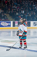 KELOWNA, CANADA - NOVEMBER 26: The Pepsi Player warms up with the Kelowna Rockets against the Regina Pats on November 26, 2016 at Prospera Place in Kelowna, British Columbia, Canada.  (Photo by Marissa Baecker/Shoot the Breeze)  *** Local Caption ***