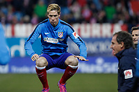 Atletico de Madrid´s Fernando Torres trains before Copa del Rey `Spanish King Cup´ soccer match at Vicente Calderon stadium in Madrid, Spain. January 28, 2015. (ALTERPHOTOS/Victor Blanco)