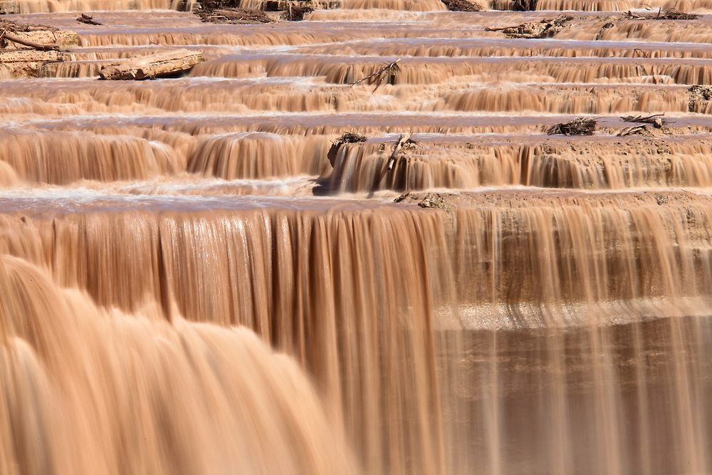 Grand Falls on the Little Colorado River in Arizona.