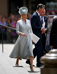 © Licensed to London News Pictures. 10/06/2016. London, UK. SOPHIE Countess of Wessex leaves a service of thanksgiving to mark the 90th birthday of Queen Elizabeth II, held at St Paul's Cathedral in London. Photo credit: Ben Cawthra/LNP