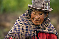 South America,Peru, Puno,  Lake Titicaca, old woman