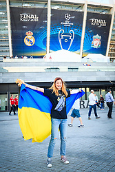 Supporter of Ukraine prior the UEFA Champions League final football match between Liverpool and Real Madrid at the Olympic Stadium in Kiev, Ukraine on May 26, 2018.Photo by Sandi Fiser / Sportida