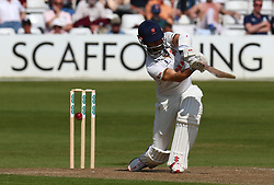May 4, 2018 - Chelmsford, Greater London, United Kingdom - Essex's James Foster gets bowled out by Yorkshire's Tim Bresnan.during Specsavers County Championship - Division One, day one match between Essex CCC and Yorkshire CCC at The Cloudfm County Ground, Chelmsford, England on 04 May 2018. (Credit Image: © Kieran Galvin/NurPhoto via ZUMA Press)
