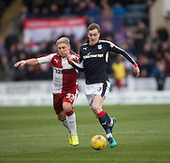 Dundee&rsquo;s Kevin Holt goes past Rangers&rsquo; Clint Hill - Dundee v Rangers in the Ladbrokes Scottish Premiership at Dens Park, Dundee.Photo: David Young<br /> <br />  - &copy; David Young - www.davidyoungphoto.co.uk - email: davidyoungphoto@gmail.com