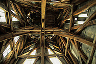 France. Paris. Notre Dame cathedral. Notre dame cathedral wood works of the bell. south tower