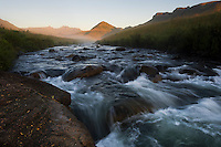 The Pholea River flowing the Cobham Nature Reserve at dawn, KwaZulu Natal, South Africa