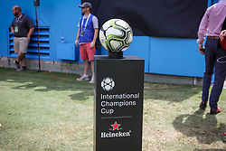 July 22, 2018 - Charlotte, North Carolina, USA - Match ball for the International Champions Cup at Bank of America Stadium in Charlotte, NC.  Borussia Dortmund of the German Bundesliga beat Liverpool of the English Premier League 3 to 1. (Credit Image: © Jason Walle via ZUMA Wire)