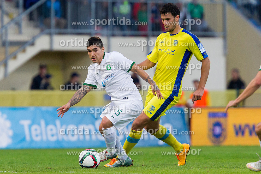 Lucas Elias Ontivero #5 of NK Olimpija Ljubljana during football match between NK Domzale and NK Olimpija Ljubljana in 12th Round of Prva liga Telekom Slovenije 2015/16, on September 26, 2015 in Sports park Domzale, Slovenia. Photo by Urban Urbanc / Sportida
