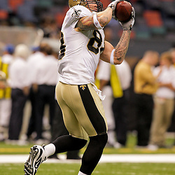 2009 August 14: New Orleans Saints tight end Jeremy Shockey (88) in warm ups prior to the start of a preseason opener between the Cincinnati Bengals and the New Orleans Saints at the Louisiana Superdome in New Orleans, Louisiana.