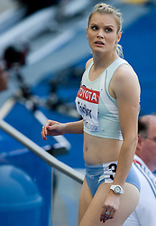 Pia Tajnikar of Slovenia  competes in the women's 100 Metres Heats during day two of the 12th 2009 IAAF Athletics World Championships on August 16, 2009 in Berlin, Germany. (Photo by Vid Ponikvar / Sportida)