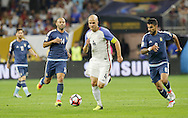 HOUSTON, TEXAS - JUNE 21:  Michael Bradley #4 of United States dribbles during play in the second half before the Semifinal match between Argentina and US at NRG Stadium as part of Copa America Centenario US 2016 on June 21, 2016 in Houston, Texas, US. (Photo by Thomas B. Shea/LatinContent/Getty Images)