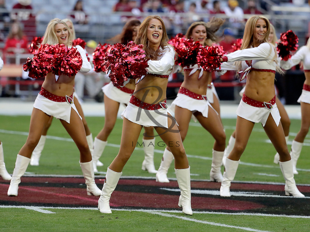 The Arizona Cardinals perform prior to an NFL football game against the Washington Redskins, Sunday, Dec. 4, 2016, in Glendale, Ariz. (AP Photo/Rick Scuteri)