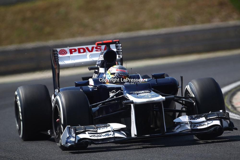 &copy; Photo4 / LaPresse<br /> 28/7/2012 Budapest<br /> Sport <br /> Hungarian Grand Prix, Hungaroring 26-29 July 2012<br /> In the pic: Pastor Maldonaldo (VEN) Williams F1 Team FW34