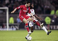 Fotball<br /> Frankrike 2004/05<br /> Lyon v Paris Saint Germain<br /> 17. april 2005<br /> Foto: Digitalsport<br /> NORWAY ONLY<br /> GOAL PAULETA (PSG) / ERIC ABIDAL (LYON)