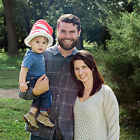 Outdoor family portrait on-location at Tower Grove Park in St. Louis, MO.